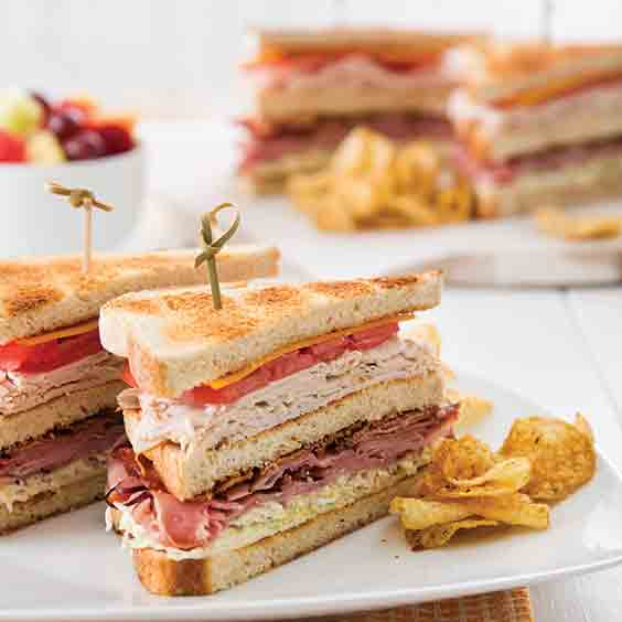 Double-Decker-Club-Sandwiches-Recipe