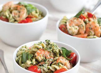 Shrimp-and-Creamy-Pesto-Pasta-Recipe