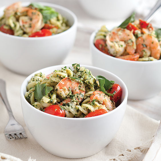 Shrimp-and-Creamy-Pesto-Pasta-Recipe