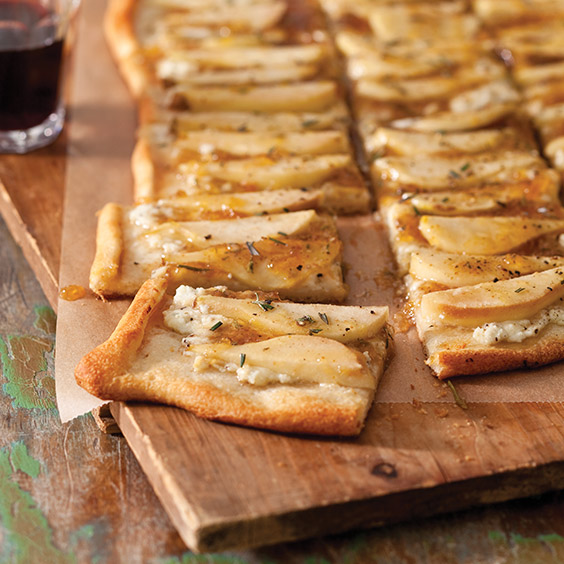 Balsamic-Fig Glazed Pear Flatbread