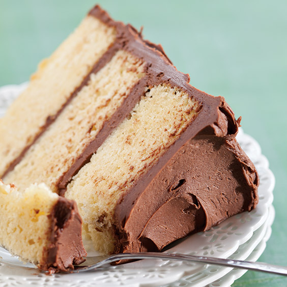 Butter Layer Cake with Chocolate Frosting Recipe