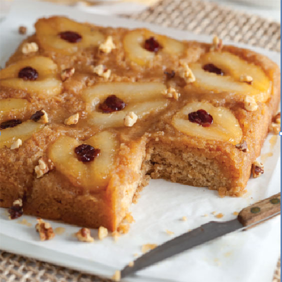 Pear-Cherry-Upside-Down-Cake-Recipe