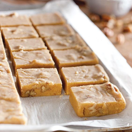 buttery pumpkin pie fudge