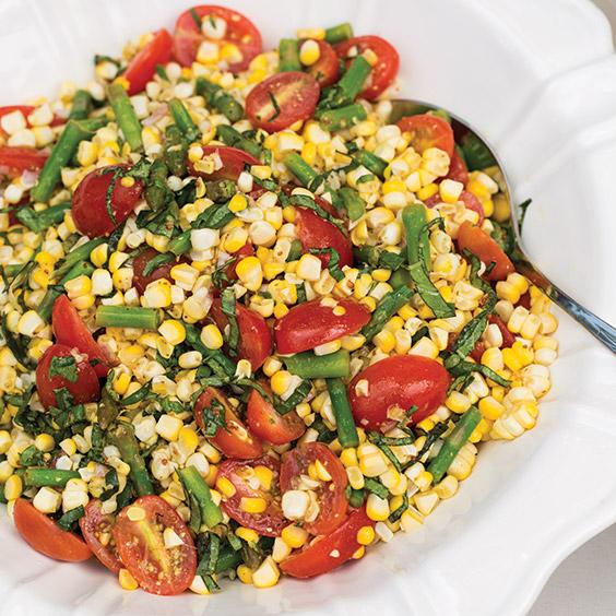 Asparagus Corn and Tomato-Salad