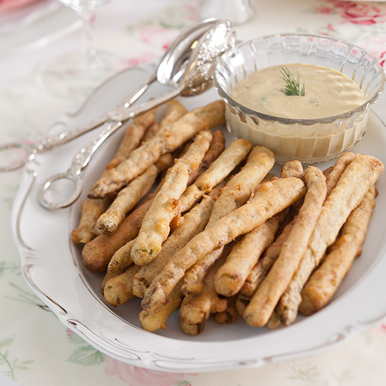 Asparagus Fries with Sweet Mustard Dill Sauce