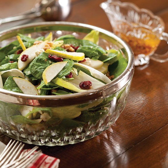 Autumn Pear Salad With Warm Bacon Vinaigrette - Paula Deen Magazine