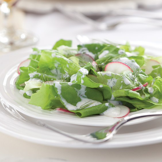 Ravishing Radishes Bibb and Radish Salad with Buttermilk Dressing