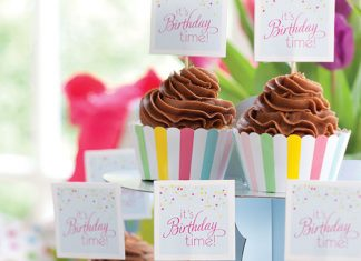 Birthday Party Cupcake Tag