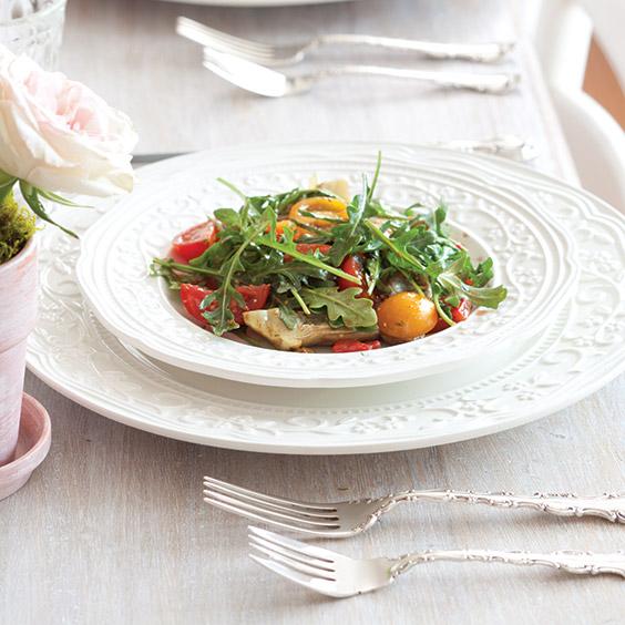 Heirloom Tomato and Artichoke Salad