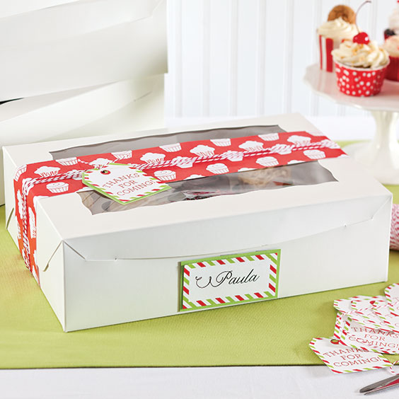 Holiday Cupcake Swap Box Label and Gift Tag