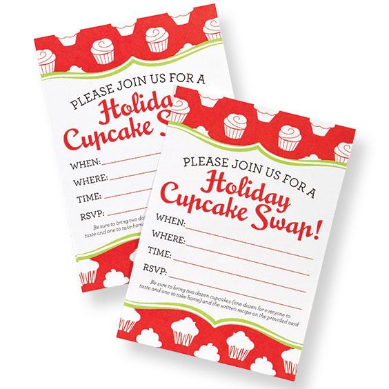 Holiday Cupcake Swap Invitation