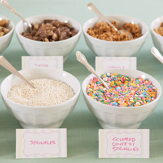 Ice Cream Topping Cards