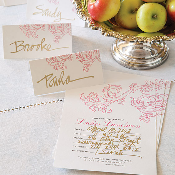Ladies' Luncheon Invitation and Place Cards