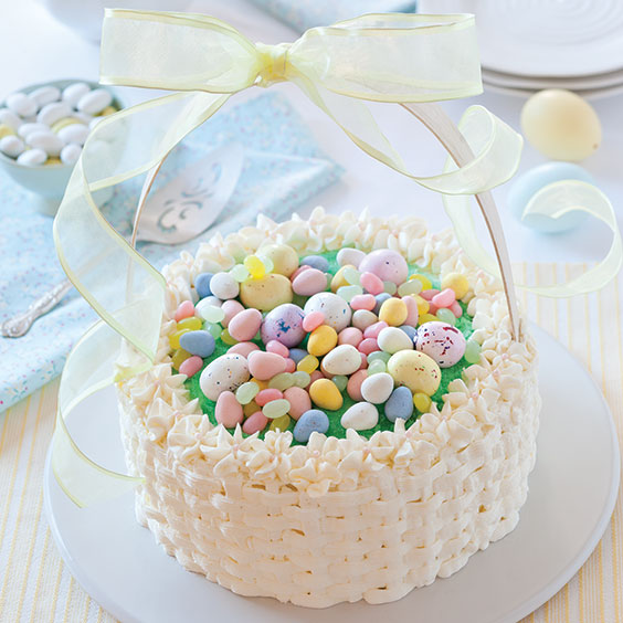 easter cakes, lemon-thyme basket cake