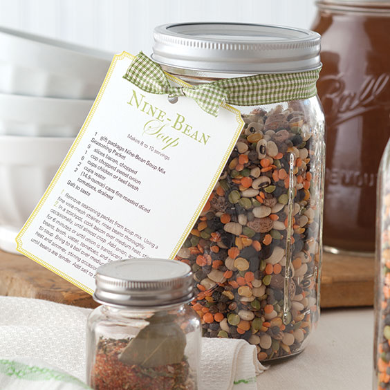 Nine-Bean Soup Mix Gift Tag