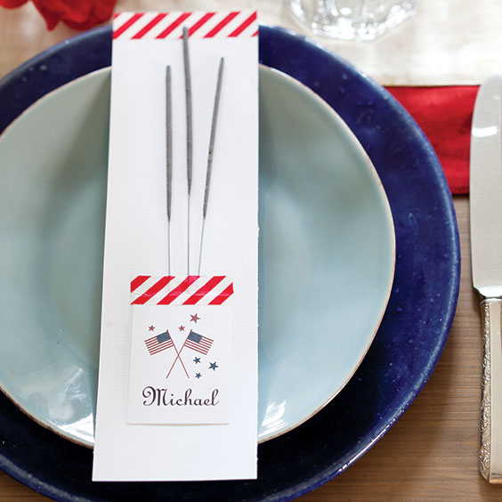 Patriotic Place Card