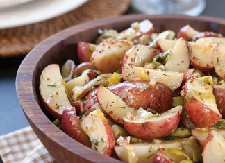 Roasted Potato and Leek Salad