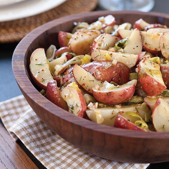 Roasted Potato and Leek Salad