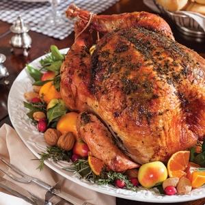 Savory Herb-Roasted Turkey with Mushroom Gravy