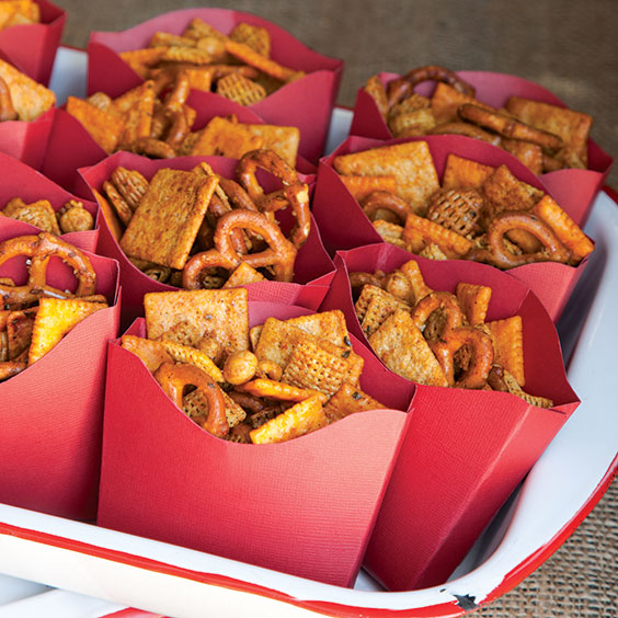 Template for Snack Mix Paper Container