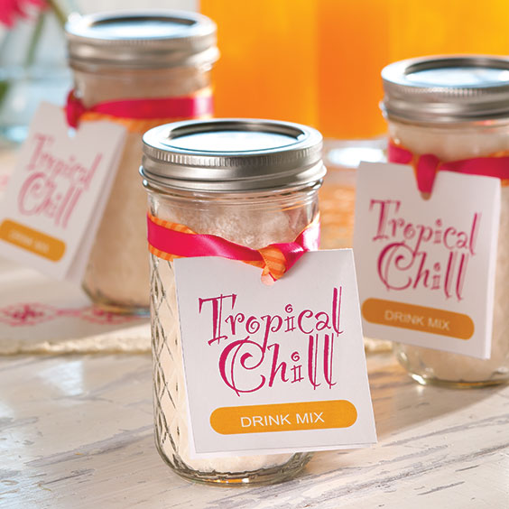 Tropical Chill Drink Mix Gift Label