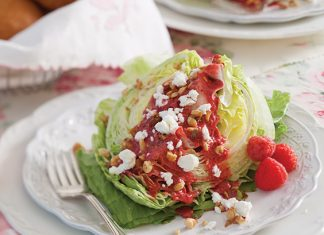 Wedge Salad with Raspberry Vinaigrette