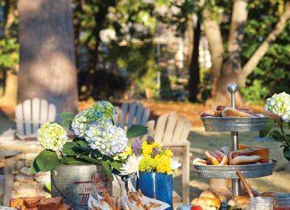 summer backyard cookout