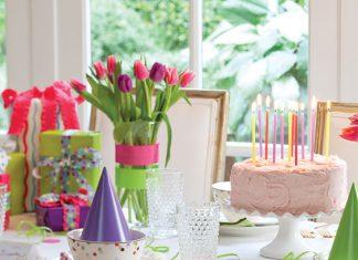 birthday celebration table setting