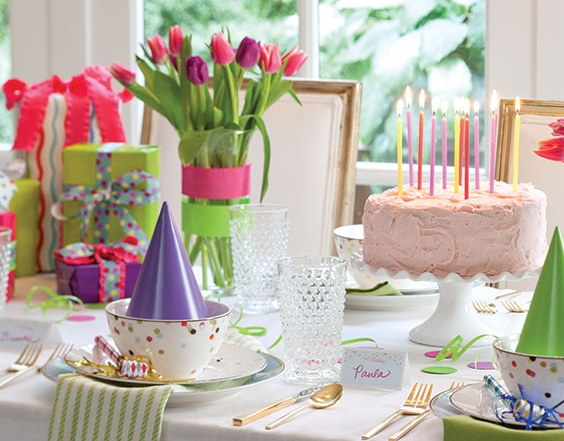 birthday celebration table setting