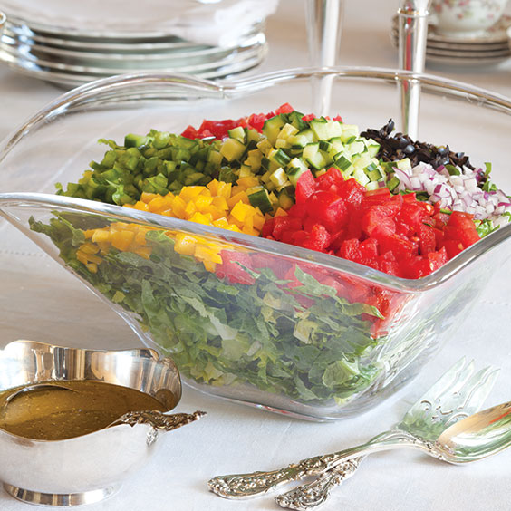 chopped salad with champagne vinaigrette