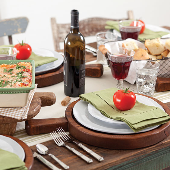 italian feast tablesetting