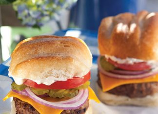 mile-high horseradish burger