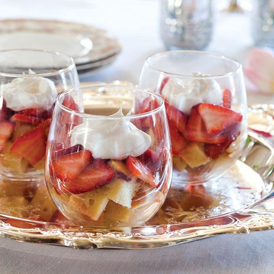 strawberries and cream parfaits
