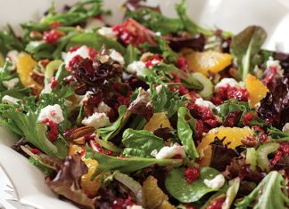 Mixed Greens and Citrus Salad with Cranberry Vinaigrette
