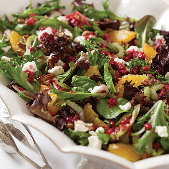 Mixed Greens and Citrus Salad with Cranberry Vinaigrette ...