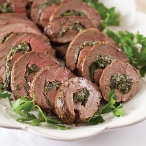 Spinach Stuffed Beef Tenderloin