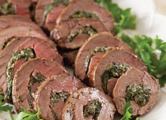 Spinach Stuffed Beef Tenderloin