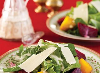 Winter Greens Salad with Sage Dressing