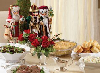 elegant Christmas dinner