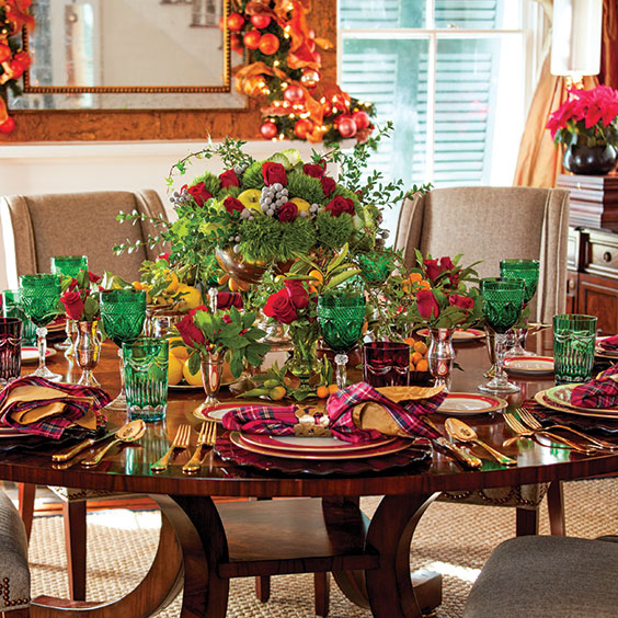 festive christmas dinner table