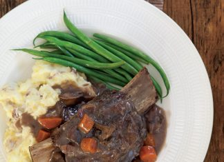 red-wine braised beef short ribs