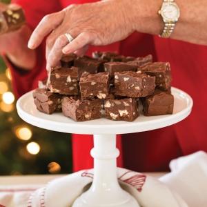chocolate and pecan fudge Christmas Treats