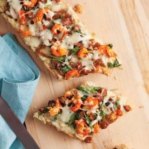 Cajun french bread pizza