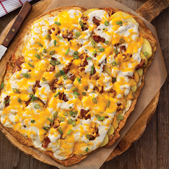 Baked Potato Pizza Recipe - Cooking with Paula Deen