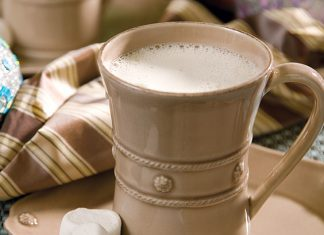 Malted Hot White Chocolate