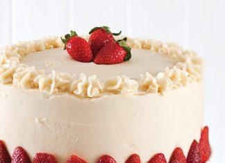 strawberry chambord cake