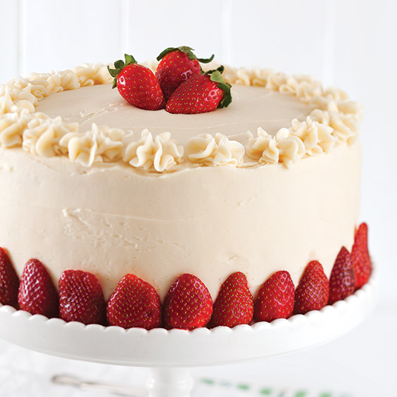 Strawberry Cake with Chambord Frosting - Paula Deen Magazine