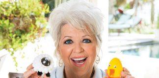 Paula holding Farm animal eggs