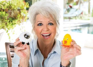 Paula holding Farm animal eggs