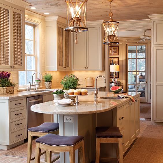 warm, cozy kitchen
